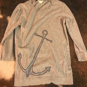 Jcrew Anchor 3/4 sleeve sweater